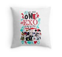 EXO We Are One! White version Throw Pillow
