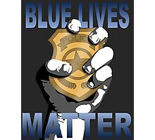 Blue Lives Matter Photographic Print