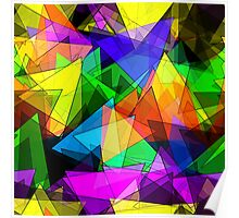 Colorful triangles Poster