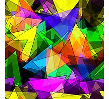 Colorful triangles Photographic Print