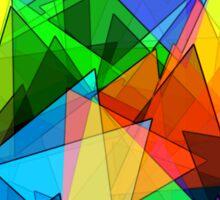 Colorful triangles Sticker