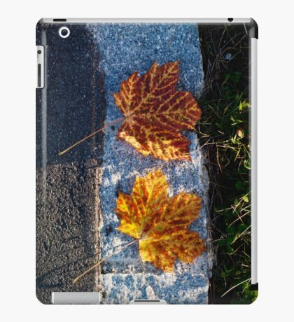 two left leaves iPad Case/Skin