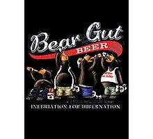 Bear Gut Beer Men's Funny Beer Gut Photographic Print