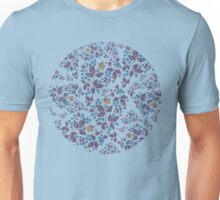 Purple Flowers & Paisley Leaves Unisex T-Shirt