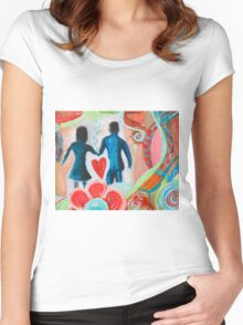 A Heart Full of Love Women's Fitted Scoop T-Shirt