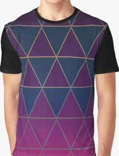 Pattern 032 Medieval Triangle Purple Blue Patterns Graphic T-Shirt