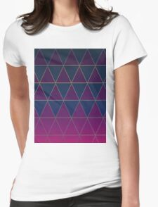 Pattern 032 Medieval Triangle Purple Blue Patterns Womens Fitted T-Shirt