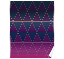 Pattern 032 Medieval Triangle Purple Blue Patterns Poster