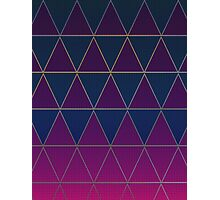 Pattern 032 Medieval Triangle Purple Blue Patterns Photographic Print