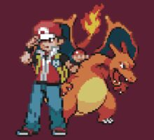 Red and Charizard by GreenTheRival