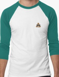 cool poo emoji Men's Baseball ¾ T-Shirt