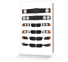 BMW 3 series evolution Greeting Card