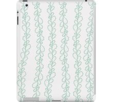 Green hand drawn cactus branches on white - pattern iPad Case/Skin