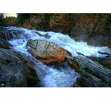 The Spirit Boulder at Livermore Falls Photographic Print