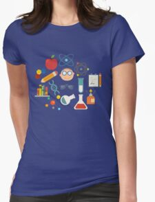 The Scientist - Modern Retro  Womens Fitted T-Shirt