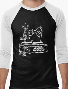 Flintstones Dj Turntable Men's Baseball ¾ T-Shirt