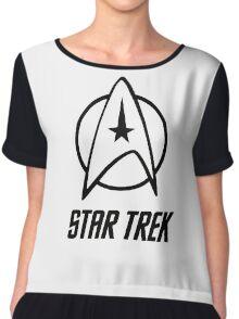 -MOVIES- Star Trek Logo Chiffon Top