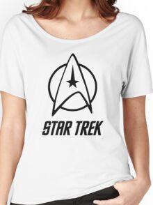 -MOVIES- Star Trek Logo Women's Relaxed Fit T-Shirt