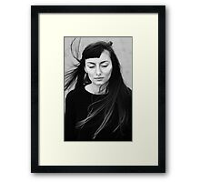 Wind in my hair Framed Print