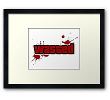 -GEEK- GTA Wasted Framed Print