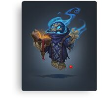 Skeleton Mage Canvas Print