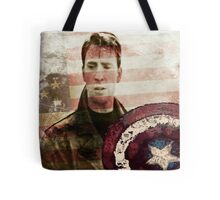Vintage Soldier with flag Tote Bag