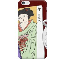 Rose Latte and Lady in Kimono iPhone Case/Skin