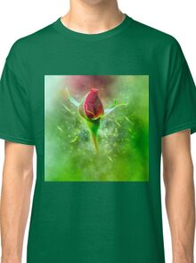 Digitally manipulated red Rose bud Classic T-Shirt