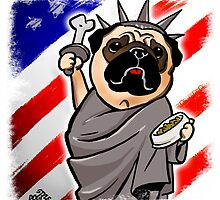 4th of July Independence Pug by DogiStyle