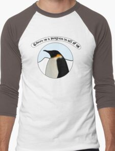 There is a Penguin in all of us Men's Baseball ¾ T-Shirt