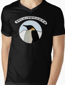 There is a Penguin in all of us Mens V-Neck T-Shirt