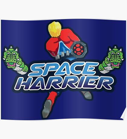 SPACE HARRIER CLASSIC ARCADE GAME Poster