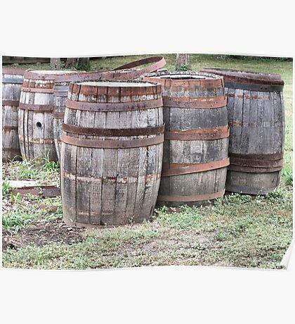Six Wine Barrels Poster