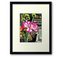 Cafe Flower Framed Print