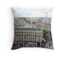 Paris rooftop view Throw Pillow