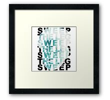 Sweep The Leg Negative Framed Print