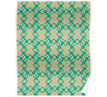 Pattern 036 Pattern Green Chartreuse  Poster