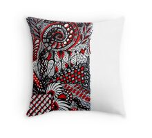 RED MONOCHROME Throw Pillow