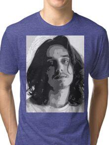 Pouya - Black & White Tri-blend T-Shirt