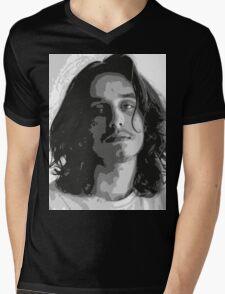 Pouya - Black & White Mens V-Neck T-Shirt