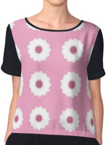 Pink and White Flowers Chiffon Top