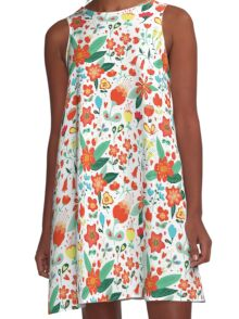 Cute flowers for Valentines Day A-Line Dress