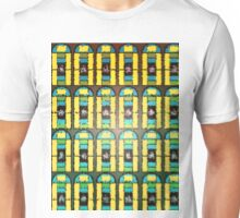 Pattern 037 Stained Glass Yellow Green Blue Frosted Unisex T-Shirt