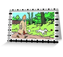 tintin/ milou Greeting Card