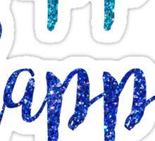 Kappa Kappa Gamma Script Sparkles Sticker