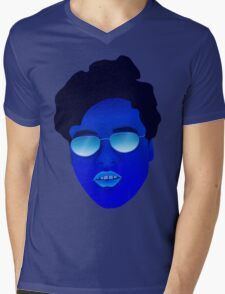 Cool Blue Dude Mens V-Neck T-Shirt