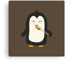 Penguin with sushi   Canvas Print