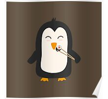 Penguin with sushi   Poster