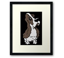 Spaniel cartoon dog Framed Print