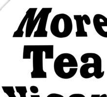 Teapot - More tea Vicar? - White and Black Sticker